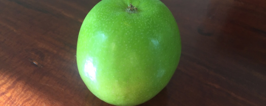 A CRISP GREEN APPLE